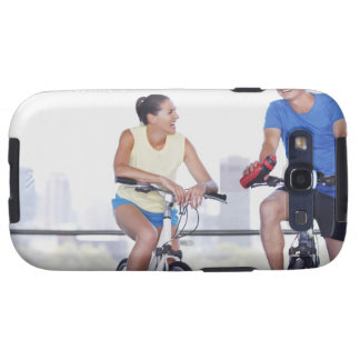 Couple sitting on bicycles galaxy SIII cover