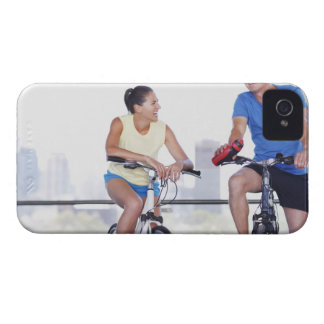 Couple sitting on bicycles Case-Mate iPhone 4 case