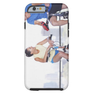 Couple sitting on bicycles tough iPhone 6 case