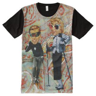 couple ski All-Over print T-Shirt
