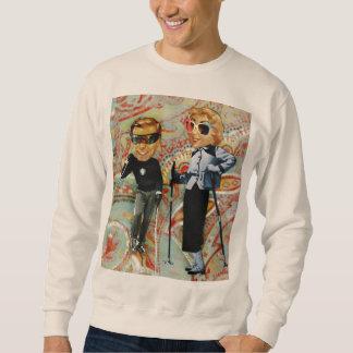 couple ski vintage pullover sweatshirts