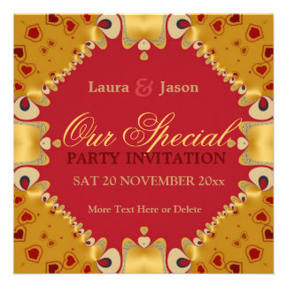 Couple Special Anniversary Engagement Invitation