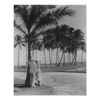 Couple Standing Under Tree Print