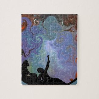 Couple Stargazing - Contemplating Stardust Jigsaw Puzzle