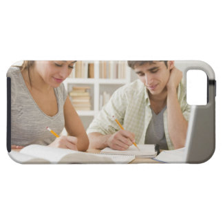 Couple studying together case for the iPhone 5