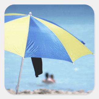 Couple Swimming, South Miami Beach, Florida Square Sticker