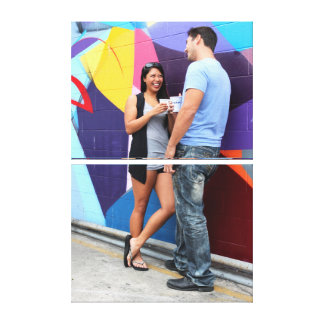 Couple Talking Gallery Wrapped Canvas