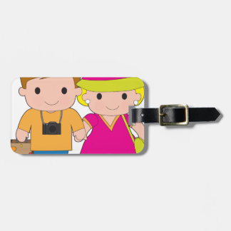 Couple Travel Luggage Tag