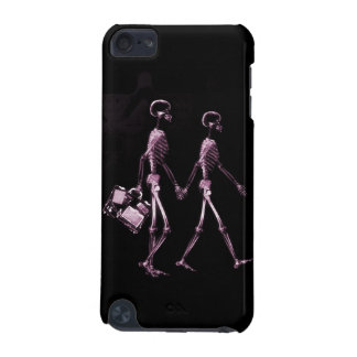 Couple Traveling X-Ray Vision Skeletons - Pink iPod Touch 5G Cover