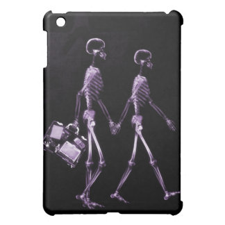 Couple Traveling X-Ray Vision Skeletons - Purple iPad Mini Cases