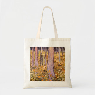 Couple walk in the woods by Vincent van Gogh Bags