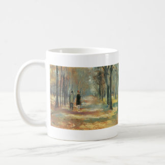 Couple walking in the woods by Lesser Ury Coffee Mugs