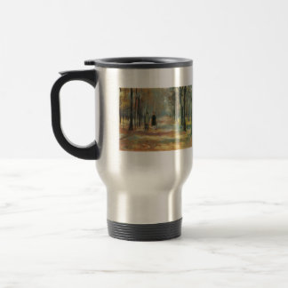 Couple walking in the woods by Lesser Ury Mug