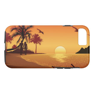 Couple walking on the beach iPhone 8/7 case