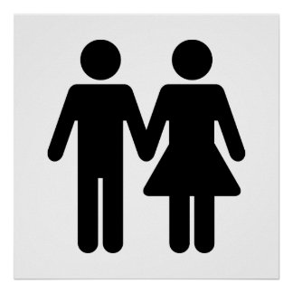 Couple WC Style - Black Poster