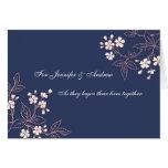 Couple Wedding Congratulations Card Blue Floral