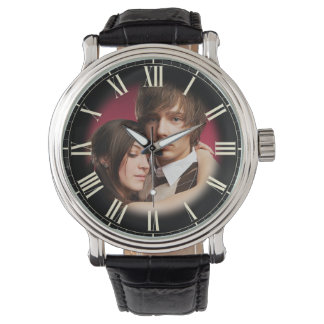 Couple Wedding Portrait Chic Fade to Photo Roman Wristwatches