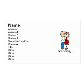 Couple We're Expecting T-shirts and Gifts Business Cards