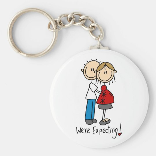 Couple We're Expecting T-shirts and Gifts Key Ring