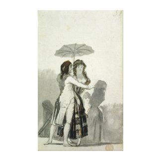 Couple with a Parasol Canvas Print
