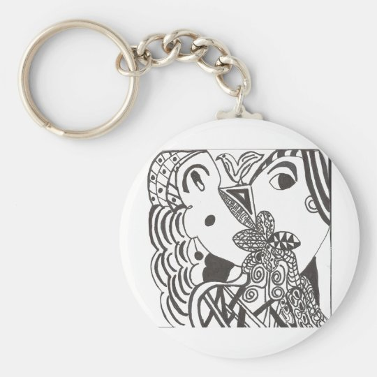 couple with bird key ring
