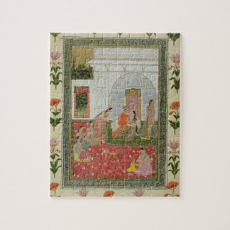 Couple with female attendants and musicians jigsaw puzzle