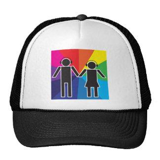 Couple with Headphones Cap