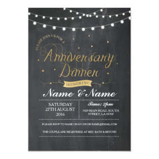 Couples Anniversary Dinner Party Wedding Invite