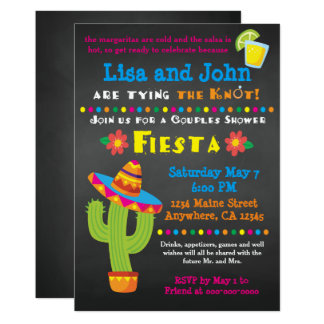 Couples Bridal Shower Fiesta Invitation