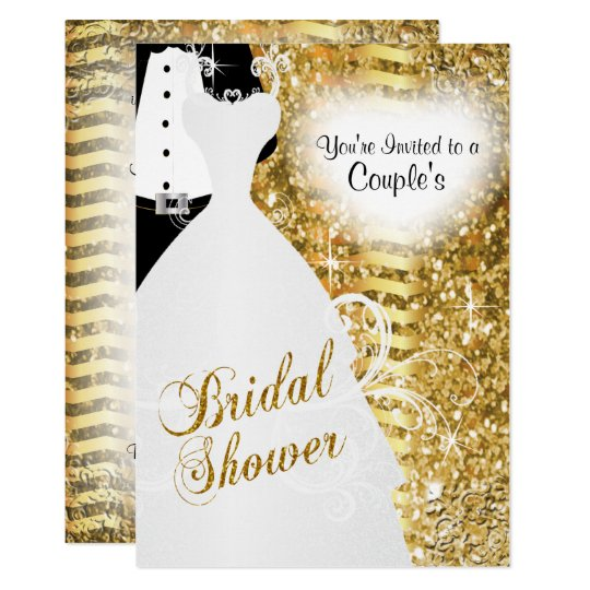 Couple's Bridal Shower in an Elegant Gold Glitter