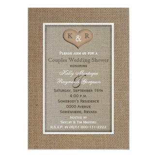 Couples Coed Wedding Shower Invitation -- Burlap
