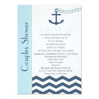 Couples Coed Wedding Shower Invitation - Nautical