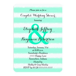 Couples Coed Wedding Shower Invitation Watercolor