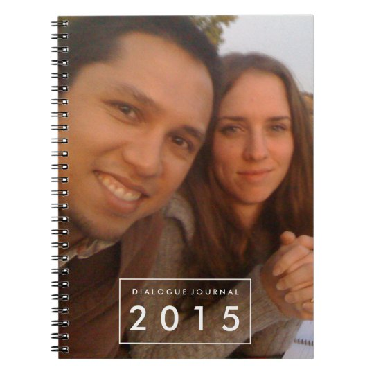 Couples Dialogue Book Photo Personalised Notebook