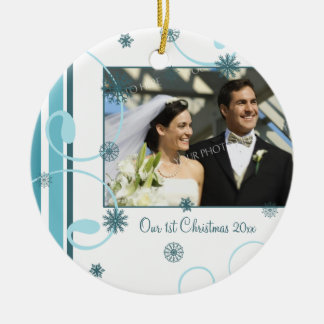 Couple's First Christmas Photo Christmas Ornament