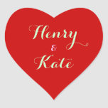 Couple's Heart Stickers Custom Mail Seal