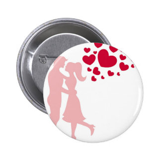 couples huggin, love you pinback button