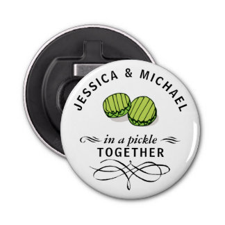 Couples' In a Pickle Together Personalized Bottle Opener