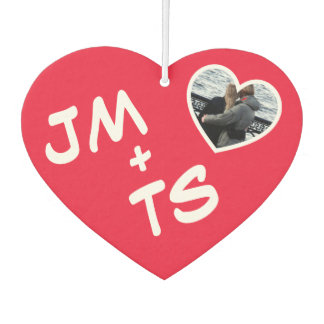 Couple's Initials Heart Frame Car Air Freshener
