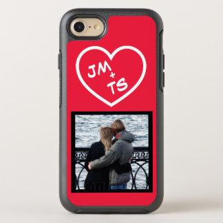Couple's Initials Heart Frame OtterBox Symmetry iPhone 8/7 Case