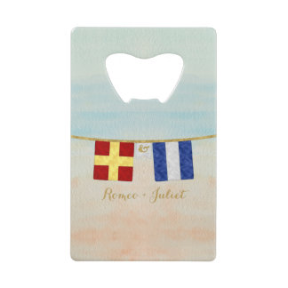 Couples Monogram Maritime Signal Flags Watercolor