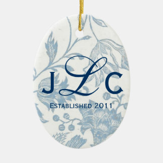 Couples Monogram Ornament