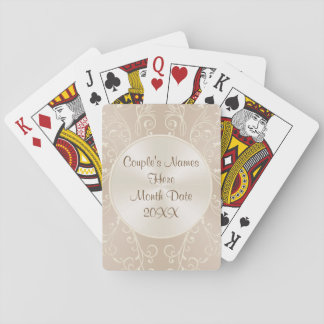 Couple's Names and Date Anniversary Wedding Favors Playing Cards