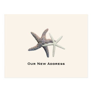 Couple's New Address by the Ocean Postcard