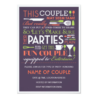 Couples Party Eggplant Card
