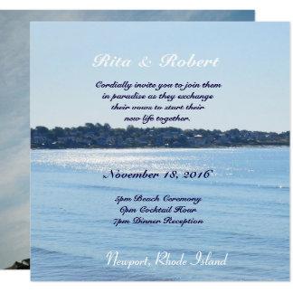 Couples Picture & Destination Invitation SemiGloss