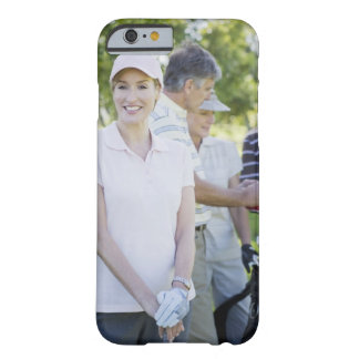 Couples preparing to play golf barely there iPhone 6 case