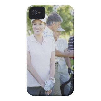 Couples preparing to play golf iPhone 4 case