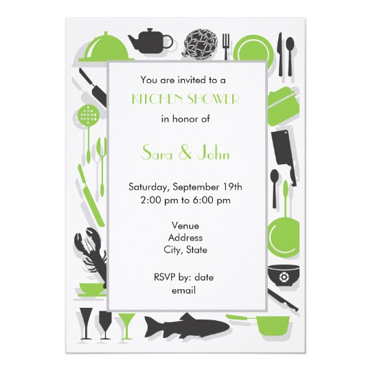 Couples Shower Invitations - Kitchen