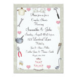 "Couples Shower Sage Green 5"" X 7"" Invitation Card"
